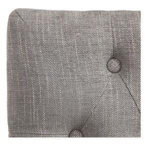 Chaise capitonnée en tissu gris chambray et hévéa - Albane - Visuel n°7