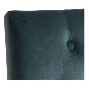 Chaise capitonnée en tissu velours vert bleuté et hévéa - Albane - Visuel n°8