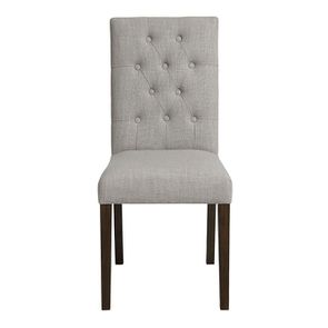 Chaise en tissu capitonné beige - Albane - Visuel n°1
