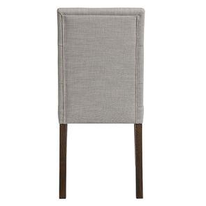 Chaise en tissu capitonné beige - Albane - Visuel n°4