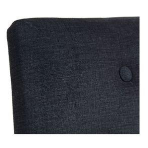 Chaise capitonnée en tissu gris anthracite et frêne - Albane - Visuel n°8