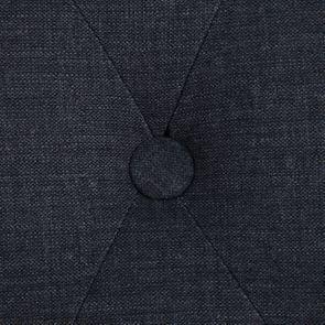 Chaise capitonnée en tissu gris anthracite et frêne - Albane - Visuel n°9