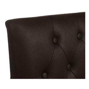 Chaise capitonnée en éco- cuir chocolat - Albane - Visuel n°9
