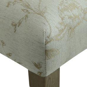 Chaise capitonnée en tissu paradisier et frêne - Albane - Visuel n°9