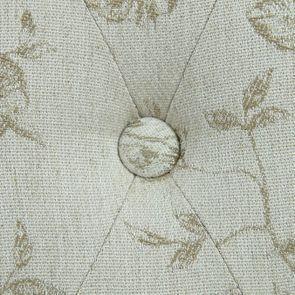 Chaise capitonnée en tissu paradisier et frêne - Albane - Visuel n°10