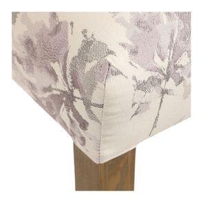 Chaise capitonnée en tissu fleurs opaline - Albane - Visuel n°8