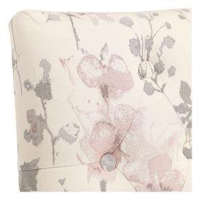 Chaise capitonnée en tissu fleurs opaline - Albane - Visuel n°9