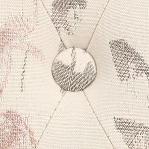 Chaise capitonnée en tissu fleurs opaline - Albane - Visuel n°10