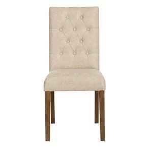 Chaise en tissu capitonné ficelle - Albane - Visuel n°1