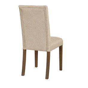 Chaise en tissu capitonné ficelle - Albane - Visuel n°4