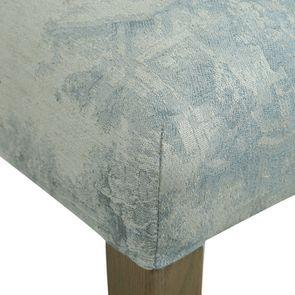Chaise capitonnée en tissu toile de Jouy et frêne - Albane - Visuel n°4