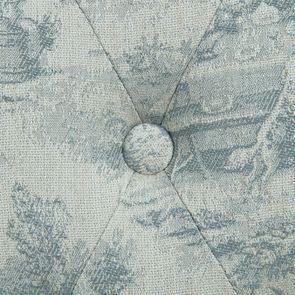 Chaise capitonnée en tissu toile de Jouy et frêne - Albane - Visuel n°6