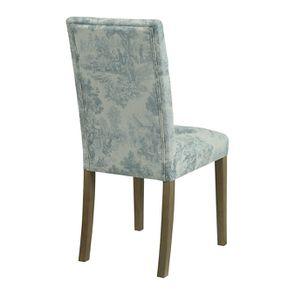 Chaise capitonnée en tissu toile de Jouy et frêne - Albane - Visuel n°10
