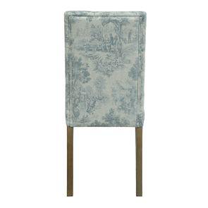 Chaise capitonnée en tissu toile de Jouy et frêne - Albane - Visuel n°11