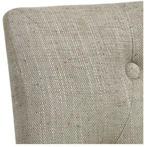 Chaise capitonnée en tissu vert amande et frêne - Albane - Visuel n°8