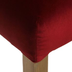 Chaise capitonnée en tissu velours lie de vin - Albane - Visuel n°8