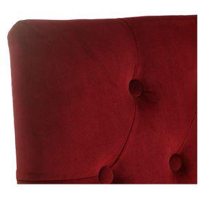 Chaise capitonnée en tissu velours lie de vin - Albane - Visuel n°9