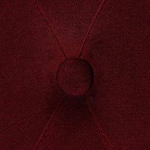 Chaise capitonnée en tissu velours lie de vin - Albane - Visuel n°10