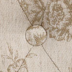 Chaise capitonnée en tissu paradisier - Albane - Visuel n°9
