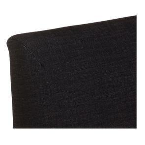 Chaise en tissu anthracite et hévéa massif - Romane - Visuel n°8