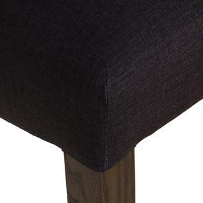 Chaise en tissu anthracite et hévéa massif - Romane - Visuel n°9