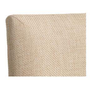 Chaise en hévéa massif noir et tissu ficelle - Romane - Visuel n°8