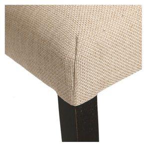 Chaise en hévéa massif noir et tissu ficelle - Romane - Visuel n°9