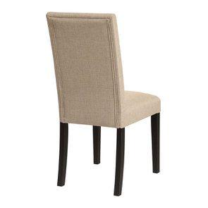 Chaise en hévéa massif noir et tissu ficelle - Romane - Visuel n°4