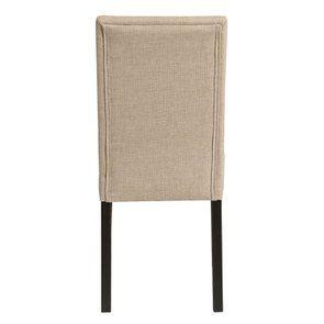 Chaise en hévéa massif noir et tissu ficelle - Romane - Visuel n°5