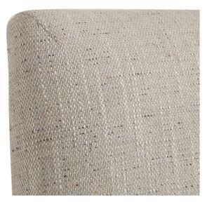 Chaise en hévéa massif et tissu mastic grisé- Romane - Visuel n°28