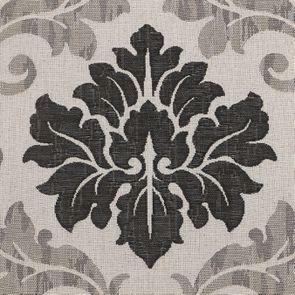 Chaise en hévéa massif et tissu arabesque - Romane - Visuel n°7