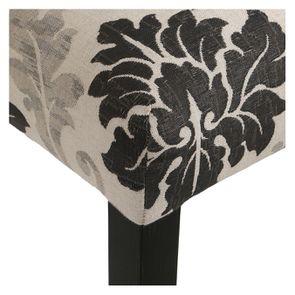 Chaise en hévéa massif et tissu arabesque - Romane - Visuel n°8