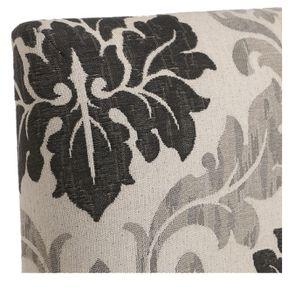 Chaise en hévéa massif et tissu arabesque - Romane - Visuel n°9