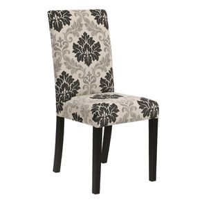 Chaise en hévéa massif et tissu arabesque - Romane - Visuel n°2