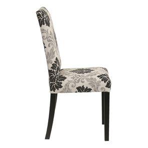 Chaise en hévéa massif et tissu arabesque - Romane - Visuel n°3