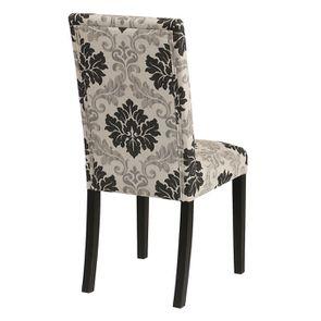 Chaise en hévéa massif et tissu arabesque - Romane - Visuel n°4