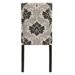 Chaise en hévéa massif et tissu arabesque - Romane - Visuel n°5