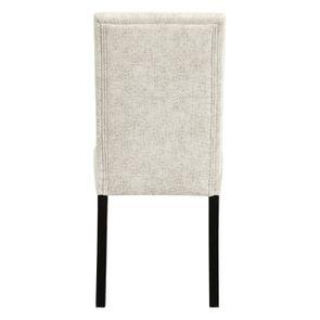 Chaise en hévéa massif et tissu arabesque perle - Romane - Visuel n°4