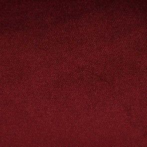 Chaise en tissu velours lie de vin et hévéa massif - Romane