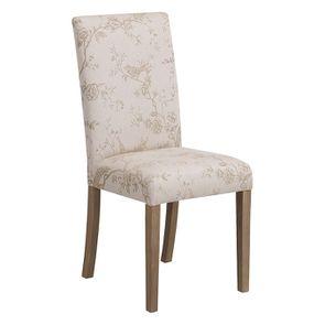 Chaise en frêne massif et tissu Paradisier - Romane - Visuel n°2