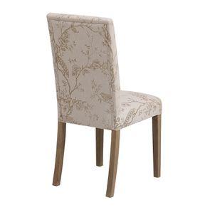 Chaise en frêne massif et tissu Paradisier - Romane - Visuel n°3