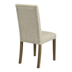 Chaise en frêne et tissu beige ficelle - Romane - Visuel n°4