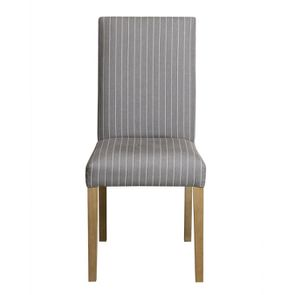 Chaise en frêne massif et tissu rayure tennis - Romane
