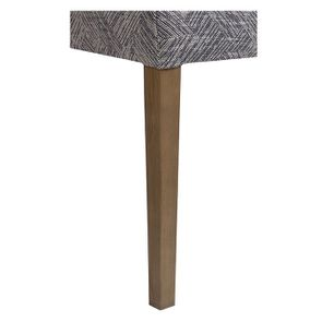 Chaise en frêne massif et tissu Mosaïque indigo - Romane - Visuel n°7