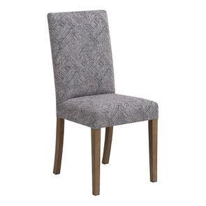 Chaise en frêne massif et tissu Mosaïque indigo - Romane - Visuel n°2