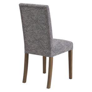 Chaise en frêne massif et tissu Mosaïque indigo - Romane - Visuel n°3