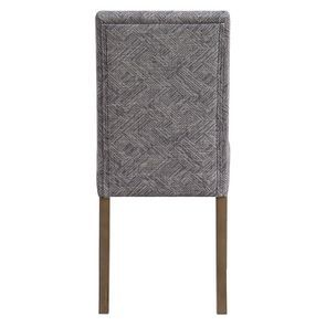 Chaise en frêne massif et tissu Mosaïque indigo - Romane - Visuel n°4