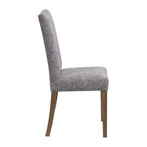 Chaise en frêne massif et tissu Mosaïque indigo - Romane - Visuel n°5