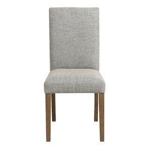 Chaise en frêne massif et tissu losange gris - Romane