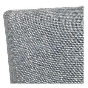 Chaise en tissu bleu chambray et frêne massif - Romane - Visuel n°30